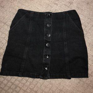 Forever 21 Black Button Up Skirt